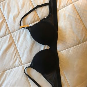 Maiden Form black mesh bra- 34C
